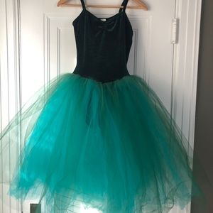 Other - Emerald ballerina basic with attached tutu